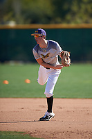 DJ Dell'Anno during the Under Armour All-America Tournament powered by Baseball Factory on January 19, 2020 at Sloan Park in Mesa, Arizona.  (Zachary Lucy/Four Seam Images)