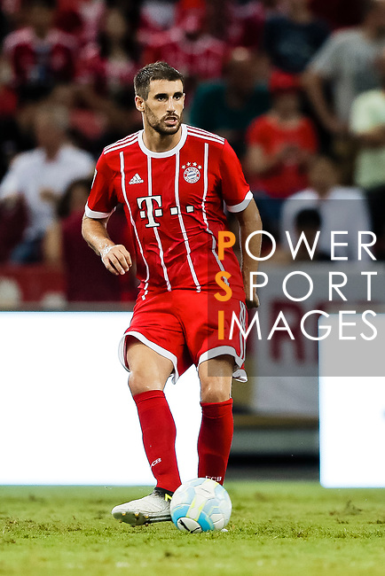 Bayern Munich Midfielder Javi Martinez in action during the International Champions Cup match between Chelsea FC and FC Bayern Munich at National Stadium on July 25, 2017 in Singapore. Photo by Marcio Rodrigo Machado / Power Sport Images