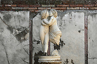 Statue of Amore e Psiche (Cupid and Psyche) in room E, Domus di Amore e Psiche (House of Cupid and Psyche), 2nd century AD, Ostia Antica, Italy. Picture by Manuel Cohen