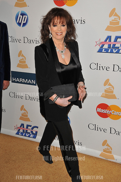 Jackie Collins at the 2011 Clive Davis pre-Grammy party at the Beverly Hilton Hotel..February 12, 2011  Beverly Hills, CA.Picture: Paul Smith / Featureflash