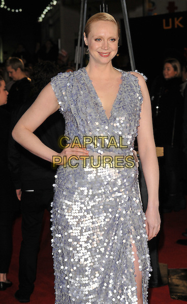 Gwendoline Christie attends the &quot;The Hunger Games: Mockingjay Part 2&quot; UK film premiere, Odeon Leicester Square, Leicester Square, London, England, UK, on Thursday 05 November 2015. <br /> CAP/CAN<br /> &copy;Can Nguyen/Capital Pictures