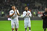 06.10.2019, Commerzbankarena, Frankfurt, GER, 1. FBL, Eintracht Frankfurt vs. SV Werder Bremen, <br /> <br /> DFL REGULATIONS PROHIBIT ANY USE OF PHOTOGRAPHS AS IMAGE SEQUENCES AND/OR QUASI-VIDEO.<br /> <br /> im Bild: Milos Veljkovic (SV Werder Bremen #13), Theodor Gebre Selassie (#23, SV Werder Bremen)<br /> <br /> Foto © nordphoto / Fabisch