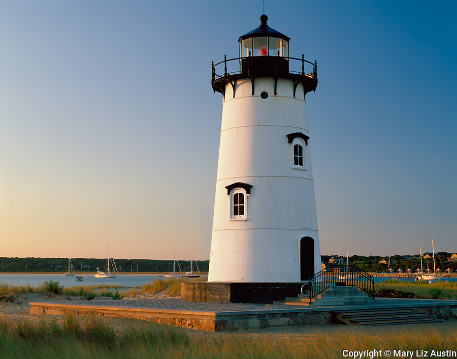 Martha's Vineyard, MA<br /> Edgartown Harbor Lighthouse (1881) (rededicated as the Children's Lighthouse Memorial in 2001) located on Nantucket Sound