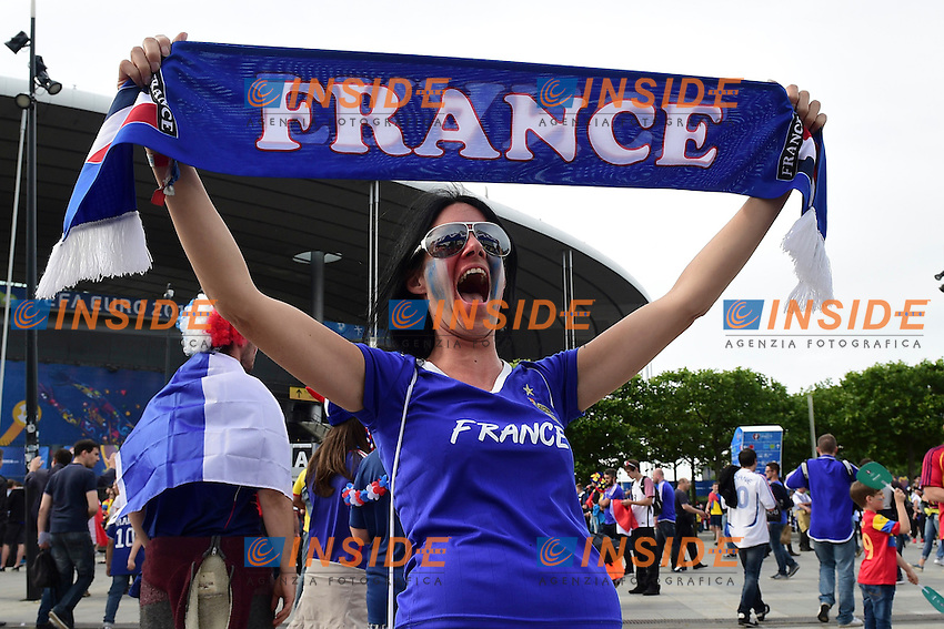 Tifosa Francia <br /> Paris 10-06-2016 Stade de France football Euro2016 France - Romania  / Francia - Romania Group Stage Group A. Foto JB Autissier / Panoramic / Insidefoto