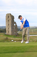 Graham Nugent (Kilkenny) on the 13th tee during Round 2 of The South of Ireland in Lahinch Golf Club on Sunday 27th July 2014.<br /> Picture:  Thos Caffrey / www.golffile.ie