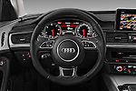Car pictures of steering wheel view of a 2016 Audi A6 - 4 Door Sedan Steering Wheel
