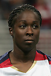 Oct 13 2007:   Tina Ellertson of the US WNT.  The US Women's National Team defeated Mexico 5-1 at the Edward Jones Dome in St. Louis on October 13th in their first of three expo matches.