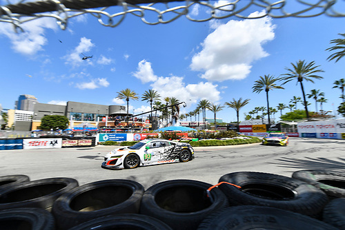 2017 IMSA WeatherTech SportsCar Championship<br /> BUBBA burger Sports Car Grand Prix at Long Beach<br /> Streets of Long Beach, CA USA<br /> Saturday 8 April 2017<br /> 93, Acura, Acura NSX, GTD, Andy Lally, Katherine Legge<br /> World Copyright: Richard Dole/LAT Images<br /> ref: Digital Image RD_LB17_302