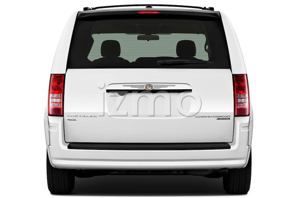 Straight rear view of a 2010 Chrysler Town and Country Touring