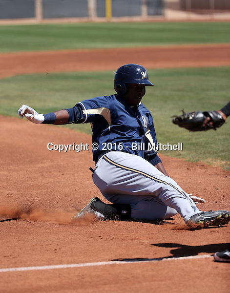 Demi Orimoloye - Milwaukee Brewers 2016 extended spring training (Bill Mitchell)