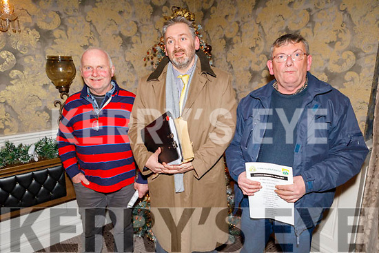 Richard Coffey (Knocknagoshel), Mike Hickey (Dr Crokes) and Mike Flynn (Cordal) attending the Coiste na nÓg Chiarraí AGM in the Rose Hotel on Tuesday night.