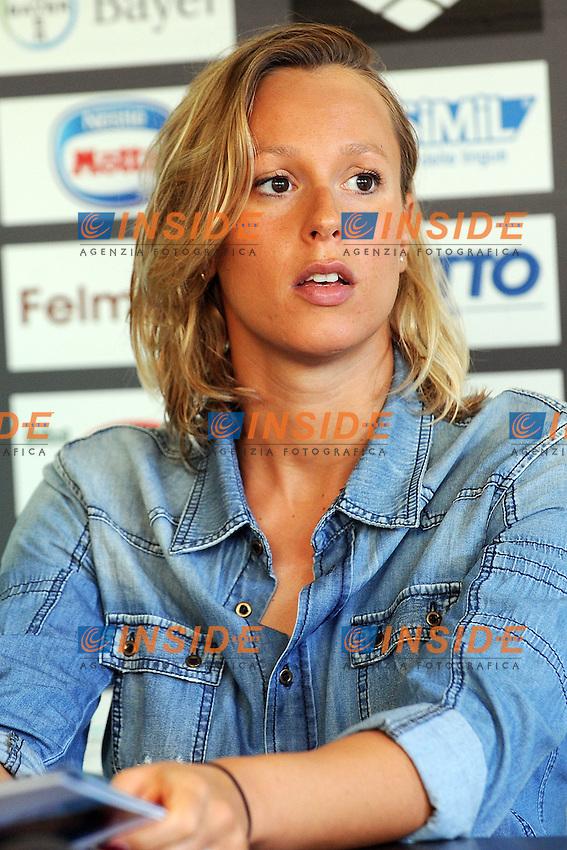 Federica Pellegrini <br /> Milano 15/07/2014 - conferenza stampa per Aspria Swimming Cup 2014 <br /> foto Andrea Ninni/Image/Insidefoto