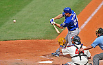14 September 2008: Kansas City Royals' outfielder Mark Teahen in action against the Cleveland Indians at Progressive Field in Cleveland, Ohio. The Royal defeated the Indians 13-3 to take the 4-game series three games to one...Mandatory Photo Credit: Ed Wolfstein Photo