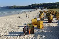 Strand im Ostseebad Binz auf Rügen, Mecklenburg-Vorpommern, Deutschland