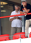 27.06.2020, Stadion an der Wuhlheide, Berlin, GER, DFL, 1.FBL, 1.FC UNION BERLIN  VS. Fortuna Duesseldorf , <br /> DFL  regulations prohibit any use of photographs as image sequences and/or quasi-video<br /> im Bild Dirk Zingler (1.FC Union Berlin)<br /> <br /> <br />      <br /> Foto © nordphoto / Engler