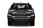 Straight rear view of a 2018 Subaru Crosstrek 4wd 5 Door SUV stock images