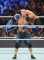 NEW YORK, NY - August 21 : Actor and wrestler John Cena battled AJ Styles  at  WWE SummerSlam 2016 at the Barclays Center on August 21 , 2016 in Brooklyn, New York.  Photo Credit: John Palmer/ MediaPunch