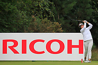 Emma Talley (USA) on the 3rd tee during Round 3 of the Ricoh Women's British Open at Royal Lytham &amp; St. Annes on Saturday 4th August 2018.<br /> Picture:  Thos Caffrey / Golffile<br /> <br /> All photo usage must carry mandatory copyright credit (&copy; Golffile | Thos Caffrey)