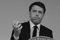 Roma, 7 Aprile 2015<br /> Matteo Renzi.<br /> Palazzo Chigi.<br /> Conferenza stampa del Governo al termine del Consiglio dei Ministri sul Documento di Economia e Finanza