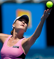 Agniezka Radwanska (POL) against Dinara Safina (RUS) in the second round of the Ladies SIngles. Safina beat Radwankska 7-5 6-4..International Tennis - Medibank International Sydney - Tues 12 Jan 2010 - Sydney Olympic Park  Tennis Centre- Sydney - Australia ..© Frey - AMN Images, 1st Floor, Barry House, 20-22 Worple Road, London, SW19 4DH.Tel - +44 20 8947 0100.mfrey@advantagemedianet.com