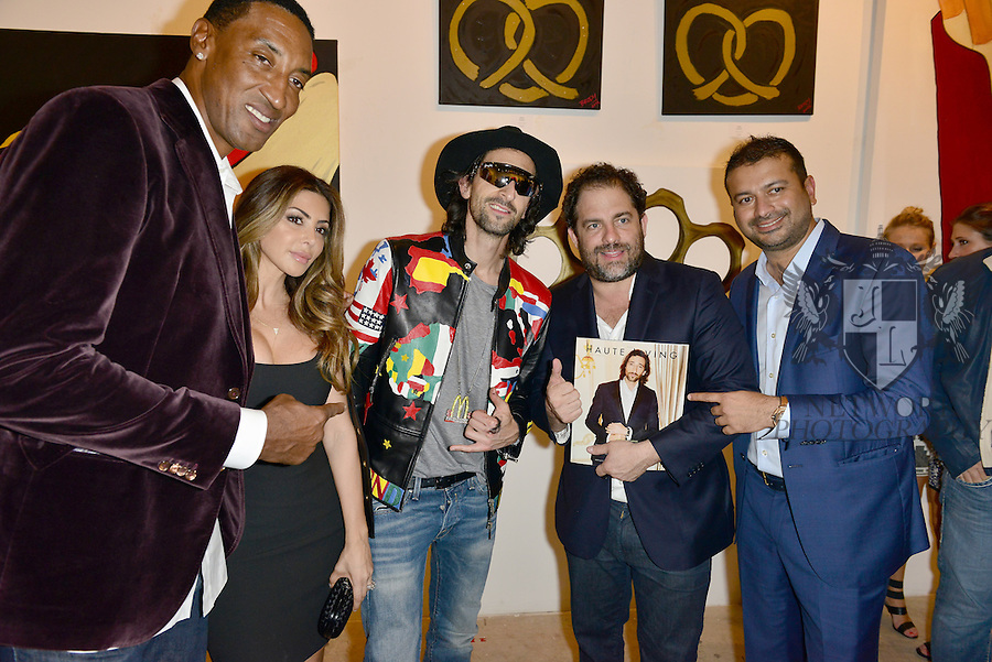 MIAMI, FL - DECEMBER 02: Scottie Pippen, Larsa Younan, Adrien Brody, Brett Ratner and Kamal Hotchandani attends Haute Living And Zacapa Rum Present Domingo Zapata at Lulu Laboratorium on Wednesday December 2, 2015 in Miami, Florida. (Photo by Johnny Louis/jlnphotography.com)