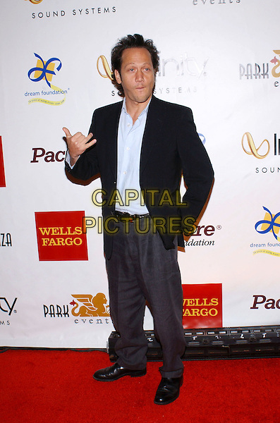 ROB SCHNEIDER.3rd Annual Cabaret of Dreams to benefit the Dream Foundation held at the Park Plaza Hotel..November 4th, 2004.full length, black suit, hand in pocket, hand gesture.www.capitalpictures.com.sales@capitalpictures.com.© Capital Pictures.