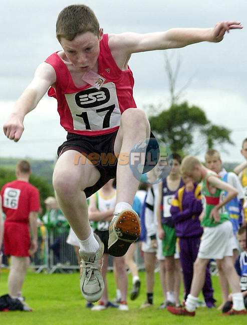Peter Nixon represented County Louth in the boy's under 14 long jump at the ESB Community Games National Finals at Mosney, County Meath.