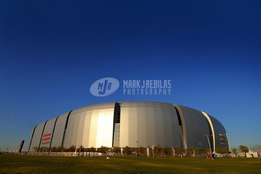 Jan 8, 2007; Glendale, AZ, USA; An overall view of the University of Phoenix Stadium before the BCS National Championship game. Mandatory Credit: Mark Rebilas