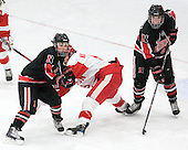 Dani Rylan (NU - 2), Jenn Wakefield (BU - 9), Stephanie Gavronsky (NU - 44) - The Boston University Terriers defeated the visiting Northeastern University Huskies 3-0 on Tuesday, December 7, 2010, at Walter Brown Arena in Boston, Massachusetts.