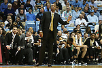 20 January 2016: Wake Forest head coach Danny Manning. The University of North Carolina Tar Heels hosted the Wake Forest University Demon Deacons at the Dean E. Smith Center in Chapel Hill, North Carolina in a 2015-16 NCAA Division I Men's Basketball game. UNC won the game 83-68.