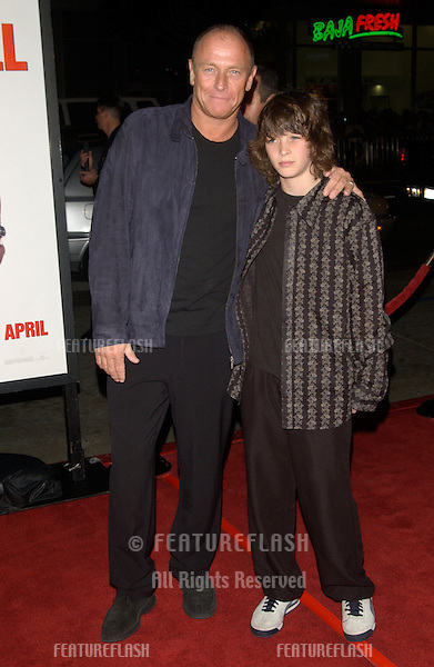 Actor CORBIN BERNSEN & son at the world premiere, in Hollywood, of Walking Tall..March 29, 2004