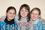 Stephanie O'Donoghue, Grace Nagle, and Catriona O'Sullivan Rathmore enjoying the Rathmore Social Action Variety show in aid of Haiti in Rathmore on Saturday night
