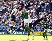 Preston North End's Patrick Bauer vies for possession with Sheffield Wednesday's Julian Borner<br /> <br /> Photographer Rich Linley/CameraSport<br /> <br /> The EFL Championship - Preston North End v Sheffield Wednesday - Saturday August 24th 2019 - Deepdale Stadium - Preston<br /> <br /> World Copyright © 2019 CameraSport. All rights reserved. 43 Linden Ave. Countesthorpe. Leicester. England. LE8 5PG - Tel: +44 (0) 116 277 4147 - admin@camerasport.com - www.camerasport.com