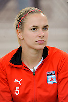 Lindsay Tarpley (5) of the Chicago Red Stars. Sky Blue FC defeated the Chicago Red Stars 1-0 during a Women's Professional Soccer match at Yurcak Field in Piscataway, NJ, on June 17, 2009.
