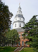 The Maryland State House in Annapolis, Maryland, the oldest in the nation still in legislative use, on October 3, 2013.  This building served as the Capitol of the United States from November 26, 1783 until August 13, 1784.  It was from this building on September 14, 1786 the Annapolis Convention issued the call to the states that led to the Constitutional Convention.  <br /> Credit: Ron Sachs / CNP