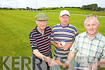 PLANS: Officers of Abbeydorney GAA Club examining plans for a new stand and other developments at their grounds, l-r: Tom Healy (Chairman), Frank Egan (Treasurer), Patrick Slattery (Assistant Treasurer).