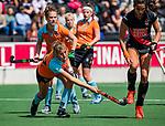 AMSTELVEEN  - Leoniek Koning (Gro)  Hoofdklasse hockey dames ,competitie, dames, Amsterdam-Groningen (9-0) .     COPYRIGHT KOEN SUYK