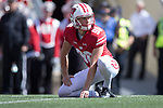Wisconsin Badgers holder Connor Allen (90) during an NCAA College Football game against the Florida Atlantic Owls Saturday, September 9, 2017, in Madison, Wis. The Badgers won 31-14. (Photo by David Stluka)