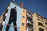 KOSOVO Pristina 9 maggio 2008 Immagine murale di Rugova