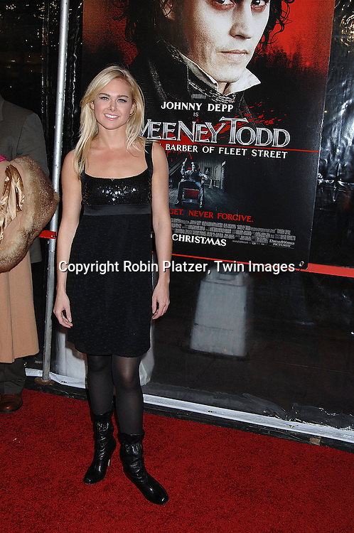"""Laura Bell Bundy .arriving at the New York Premiere of """"Sweeney Todd"""" starring Johnny Depp on December 3, 2007 at The Ziegfeld Theatre in New York City. .Robin Platzer, Twin Images"""