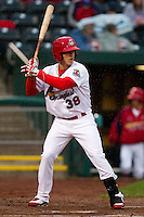 Alan Ahmady (38) of the Springfield Cardinals at bat during a game against the Northwest Arkansas Naturals on May 13, 2011 at Hammons Field in Springfield, Missouri.  Photo By David Welker/Four Seam Images.