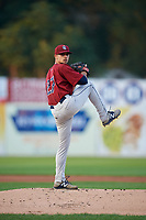Mahoning Valley Scrappers starting pitcher Yeffersson Yannuzzi (27) delivers a pitch during a game against the Williamsport Crosscutters on August 28, 2018 at BB&T Ballpark in Williamsport, Pennsylvania.  Williamsport defeated Mahoning Valley 8-0.  (Mike Janes/Four Seam Images)