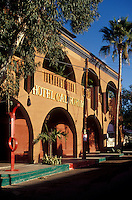 The Hotel California in the Spanish colonial town of Todos Santos , Baja California Sur, Mexico
