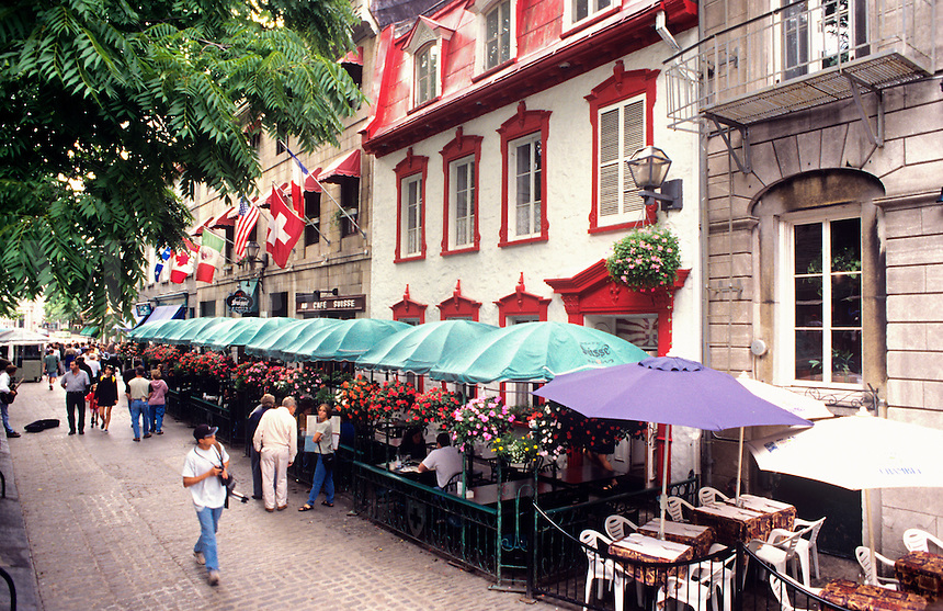 Sidewalk Cafe Rue Saint-Louis. Quebec City.