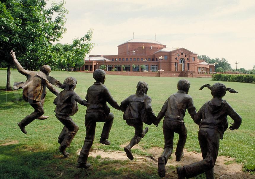 Sculpture of children at Alabama Shakespeare Festival in Montgomery, Alabama. Montgomery Alabama United States.