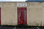 Wrexham 2 Ebbsfleet United 0, 18/11/2017. The Racecourse Ground, National League. The entrance to the disused Kop end of the racecourse Ground. Photo by Paul Thompson.