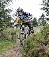 18th May 2014; Joe Barnes in action during the Gravity Enduro Mountain Biking Round 2 event at Ticknock Hill, Co Dublin. Picture credit: Tommy Grealy/actionshots.ie.