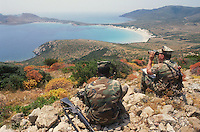 - military polygon of cape Teulada (Sardinia), US Marines ....- poligono militare di Capo Teulada (Sardegna), Marines USA
