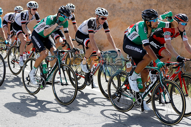 Hector Saez Benito (ESP) Caja Rural-Seguros RGA cools down during Stage 8 of the 2017 La Vuelta, running 199.5km from Hell&iacute;n to Xorret de Cat&iacute;. Costa Blanca Interior, Spain. 26th August 2017.<br /> Picture: Unipublic/&copy;photogomezsport | Cyclefile<br /> <br /> <br /> All photos usage must carry mandatory copyright credit (&copy; Cyclefile | Unipublic/&copy;photogomezsport)