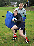 Marc Levins taking part in the Ardee Rugby Club open day. Photo: Colin Bell/pressphotos.ie